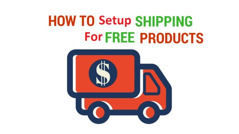 >How to Setup Shipping for Free Products on Shopify