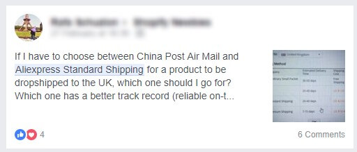 AliExpress Standard Shipping Vs. China Post Air Mail