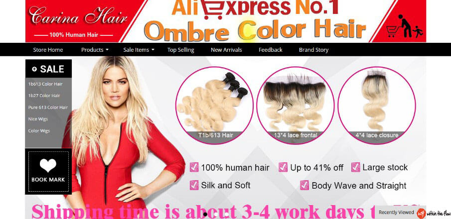 Carina Hair Official Store - Best Aliexpress Hair Vendors