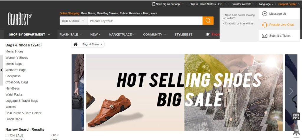 GearBest – Website like AliExpress for Shoes