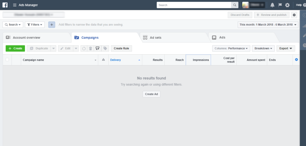 Login to Facebook ads manager to create facebook pixel for shopify