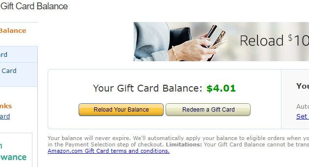 CAN YOU USE A AMAZON GIFT CARD ON PAYPAL