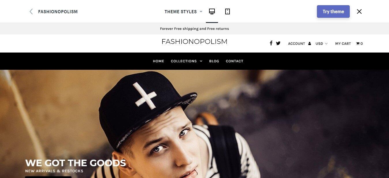 Fashionopolism Shopify Theme