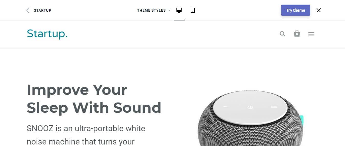 Startup Shopify Theme